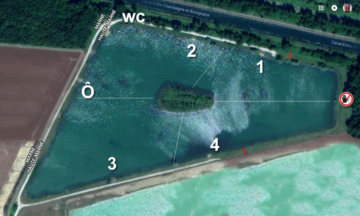 PENN lake (Des Fourches): Stek 4, 1 visser met 4 hengels