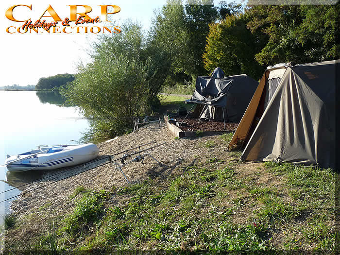 PENN lake (Des Fourches): Stek 1, 1 visser met 4 hengels