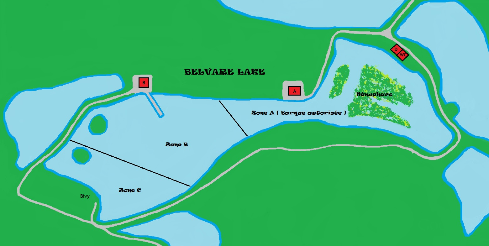 Belvare: 8p. Jachthuis + Zone A incl 1 visser met  4 hengels